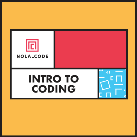 NOLA CODE intro to coding class artwork
